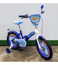 """Велосипед Tilly Авіатор 18 """"blue + white з додатковими колесами"""