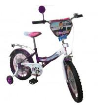 "Велосипед Tilly Стюардеса 18 ""purple + white з додатковими колесами"