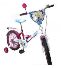 """Велосипед Tilly Чарівниця 18 """"pink + blue з додатковими колесами"""