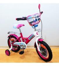 """Велосипед Tilly Стюардеса 14 """"crimson + white з додатковими колесами"""