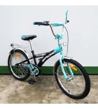 """Велосипед Tilly Explorer 20"""" black + turquoise"""