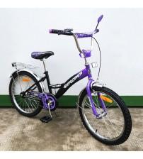 "Велосипед Tilly Explorer 20"" black + purple"