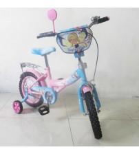 """Велосипед Tilly Чарівниця 14"""" pink + blue з додатковими колесами"""
