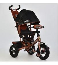 Триколісний велосипед з фарою і ключем запалювання (надувні колеса) бронзовий