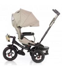 Триколісний велосипед з поворотним сидінням, пультом і посиленою рамою тканина льон