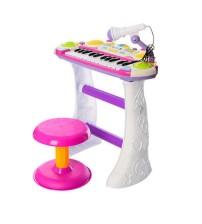 Дитячий орган піаніно зі стільчиком і мікрофоном