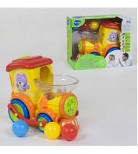 Іграшковий паровоз з кульками, світло, музика, на батарейці
