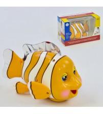 Рибка їздить, пісня англійською мовою, з підсвічуванням