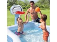 Дитячий надувний басейн з баскетбольним кільцем 257 * 188 * 130см