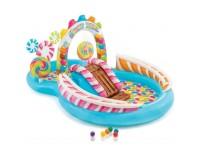 Дитячий надувний центр з кульками, гіркою і фонтаном (295 * 191 * 130 см)