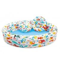 Дитячий надувний басейн, 132 * 28 см, з м'ячем і кругом