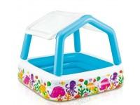 Дитячий надувний басейн зі знімним навісом (157 * 157 * 122 см)