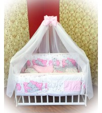 Дитяча постільна білизна в ліжечко ТМ Bonna Рожева