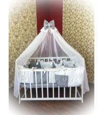 Дитяча постільна білизна в ліжечко ТМ Bonna Elite Сірий горох