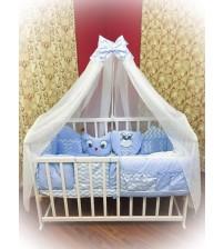 """Комплект дитячої постільної білизни Bonna """"Лісові звірята"""" блакитний"""