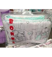 Дитяча постільна білизна в ліжечко ТМ Bonna бірюзова