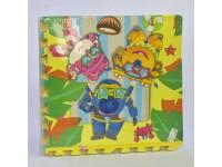 Ігровий килимок-пазли, 4 шт в упаковці, розмір 60 * 60 см