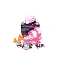 Ролики дитячі з шоломом і захистом (S і L)