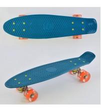 Скейт Пенні борд Best Board, колеса PU, світяться