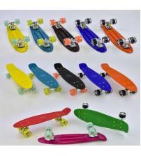 Скейт Пенні борд Best Board, колеса PU, світяться (8 видів)