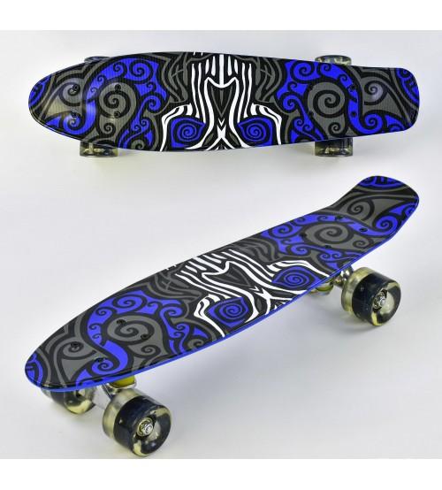 Скейт, дошка = 55 см, колеса PU, світяться