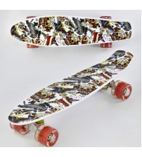 Скейт Best Board, доска=55 см, колёса PU, светятся