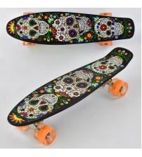Скейт, доска=55 см, колёса PU, светятся
