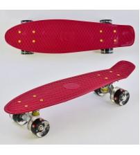 Скейт Пенни борд Best Board, колёса PU, светятся